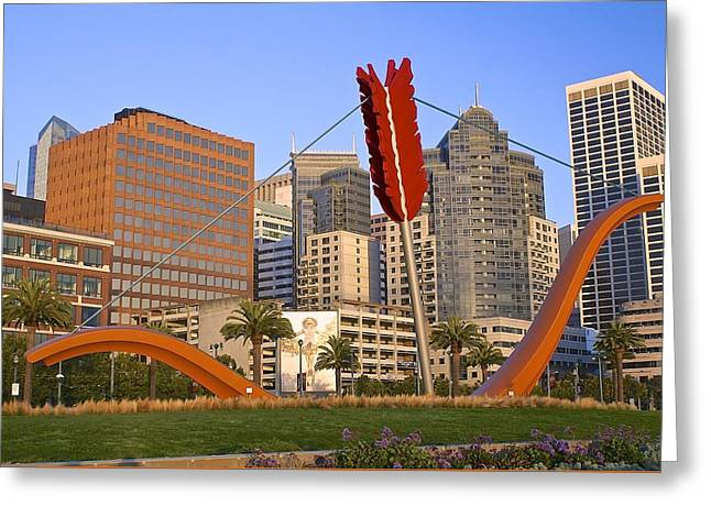 Cupid's Span Greeting Card by DUG Harpster