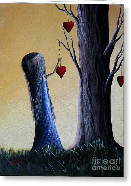 Precious Paintings Greeting Cards - Cupids Tree by Shawna Erback Greeting Card by Shawna Erback