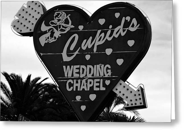 Wedding Chapel Greeting Cards - Cupids Wedding Chapel Las Vegas Greeting Card by David Lee Thompson