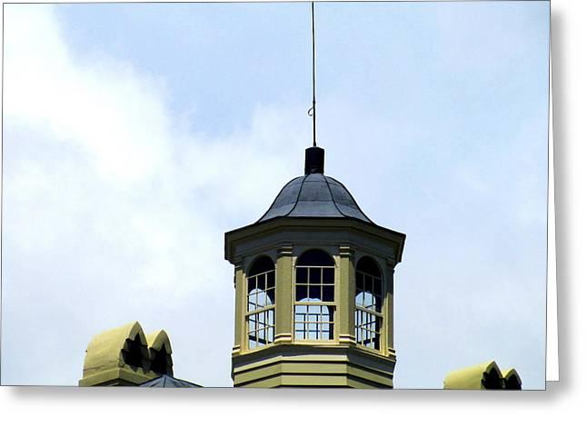 Cupola Chimneys Charleston Greeting Card by Randall Weidner
