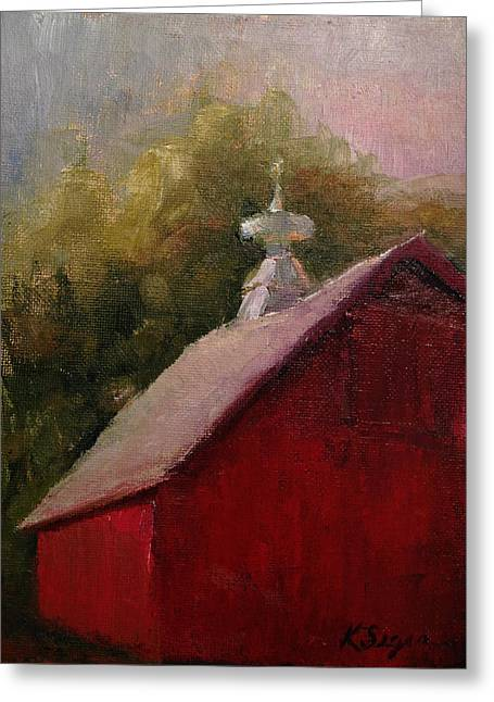 Cupola Paintings Greeting Cards - Cupola Greeting Card by Katherine Seger