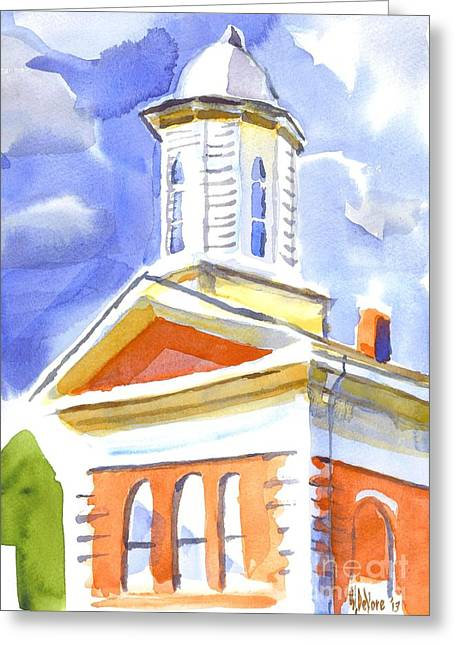 Cupola Paintings Greeting Cards - Cupola Greeting Card by Kip DeVore