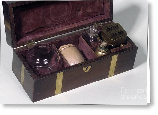 Cupping Set, 19th Century Greeting Card by Science Photo Library