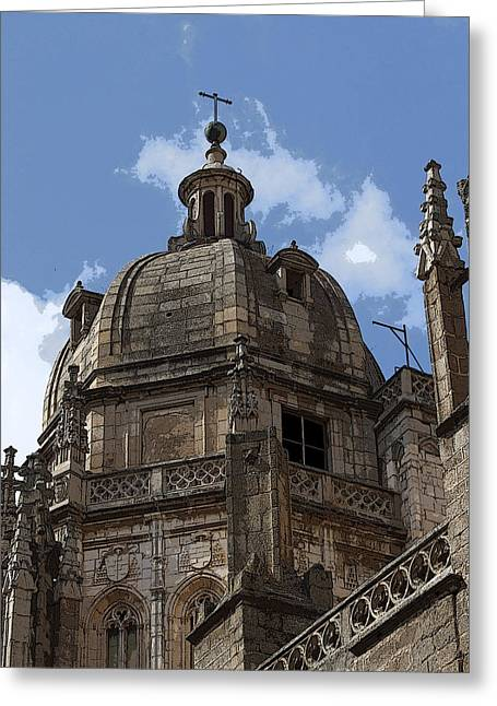 Cupula Greeting Cards - Cupula Catedral de Toledo Greeting Card by Raul Diaz Cereza