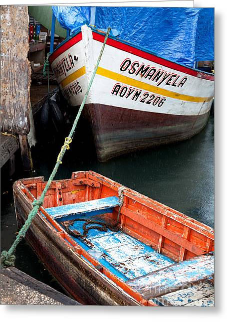 Boats At Dock Greeting Cards - Curacao - Willemstad Greeting Card by Carol Barrington