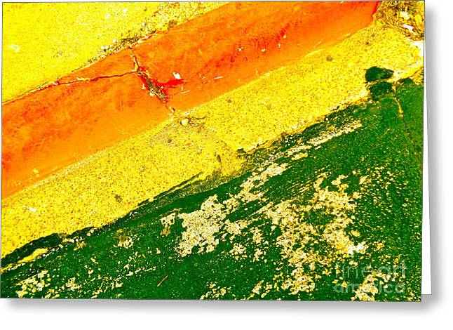 Curb Greeting Cards - Curb Abstract Greeting Card by Chuck Taylor