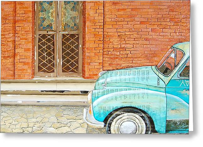 Italy Mixed Media Greeting Cards - Curb Appeal Greeting Card by Danny Phillips