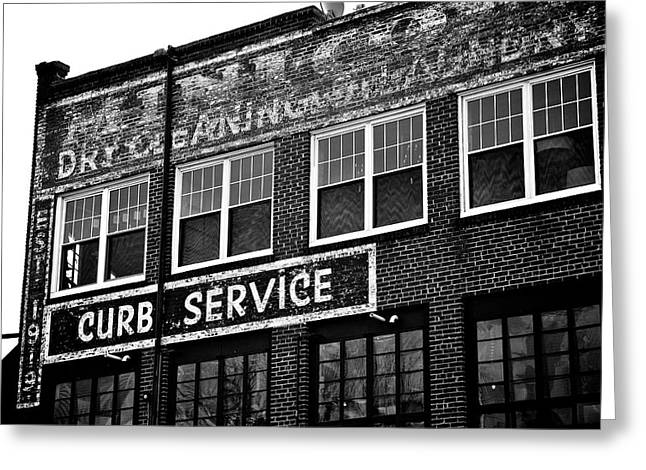 Ghost Signs Greeting Cards - Curb Service Greeting Card by Brandon Addis