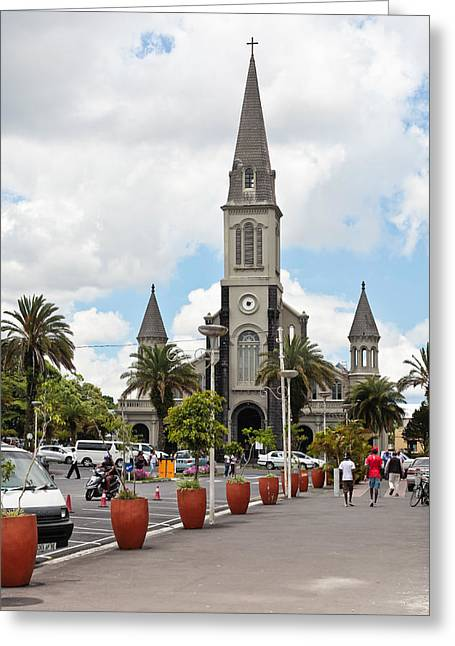 Mauritius Greeting Cards - Curepipe Greeting Card by Tom Gowanlock