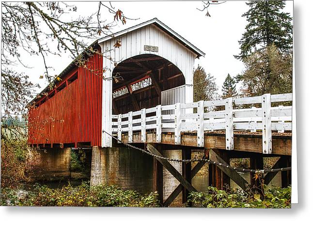 Covered Bridge Greeting Cards - Curin Bridge Greeting Card by James Heckt
