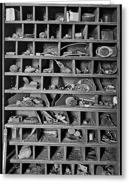 Steam Cabinet Greeting Cards - Curiosity Greeting Card by Debra and Dave Vanderlaan