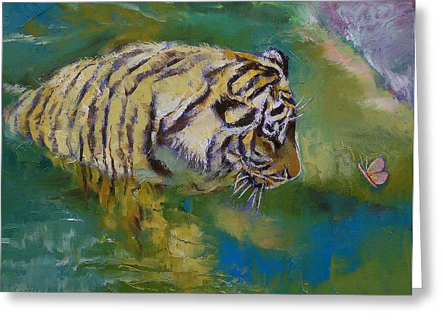 Gato Greeting Cards - Curiosity Greeting Card by Michael Creese