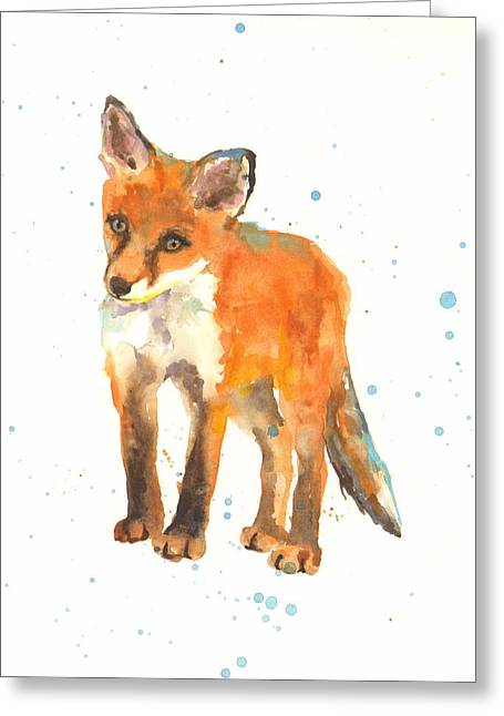 Fox Greeting Cards - Curious Kit Greeting Card by Alison Fennell