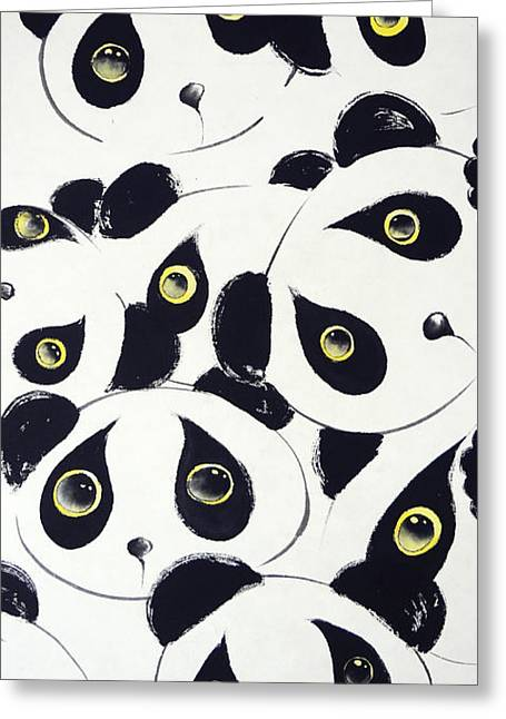 Sumie Greeting Cards - Curiosity Greeting Card by Oiyee  At Oystudio