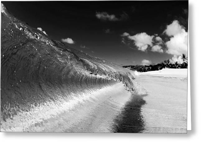 Beach Pictures Greeting Cards - Curl Line Greeting Card by Sean Davey