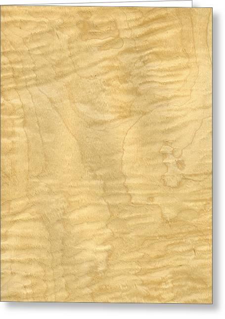 Veneer Greeting Cards - Curly Maple Veneer Greeting Card by Hakon Soreide