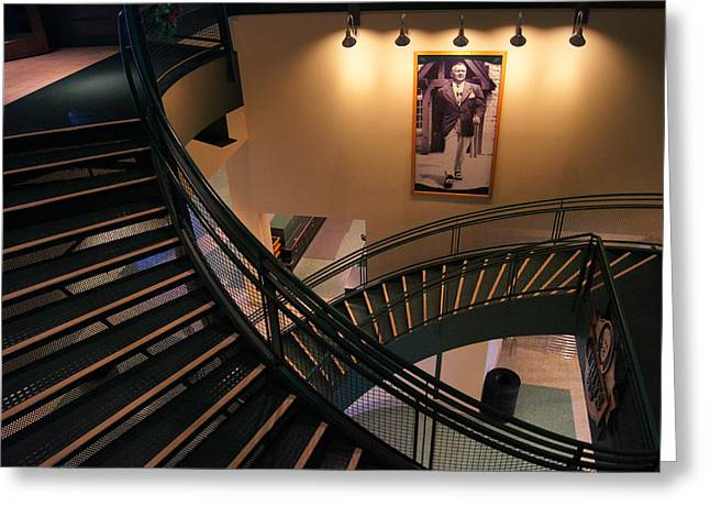 Curly's Stairway Greeting Card by Bill Pevlor