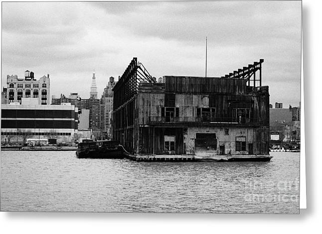 Manhaten Greeting Cards - Currently Condemned Pier 64 On The Hudson River New York City Greeting Card by Joe Fox