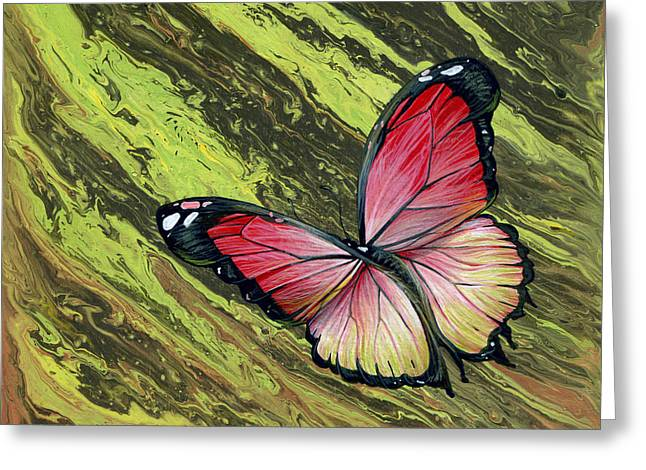 Fluttering Paintings Greeting Cards - Currents Greeting Card by Cara Bevan