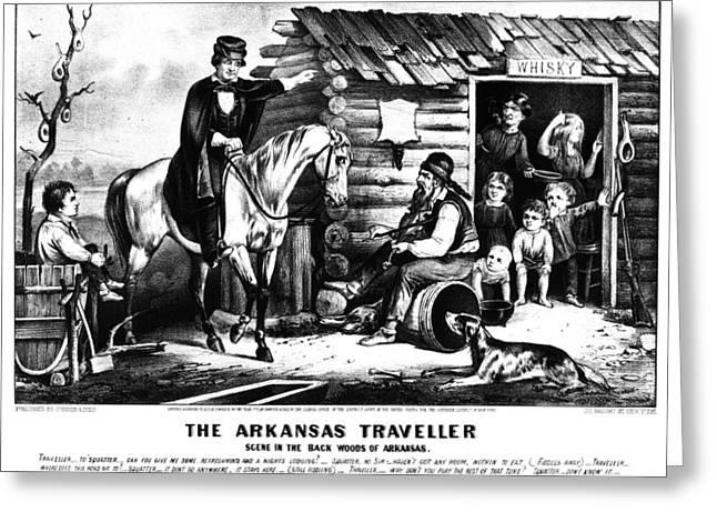 Currier & Ives The Arkansas Traveller Greeting Card by Granger