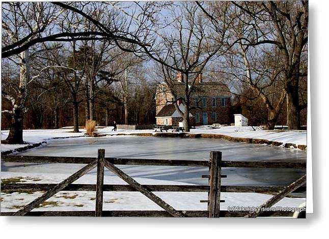 Stein Greeting Cards - Currier and Ives almost  Graeme Park Greeting Card by Valerie Stein