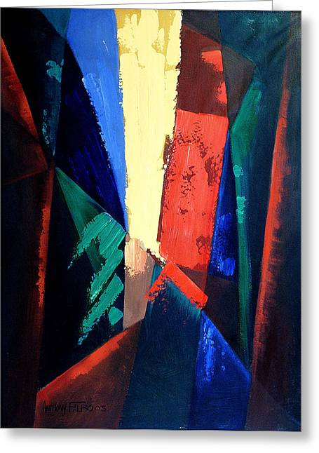 Abstract Greeting Cards Greeting Cards - Cursed Is The Ground Greeting Card by Anthony Falbo