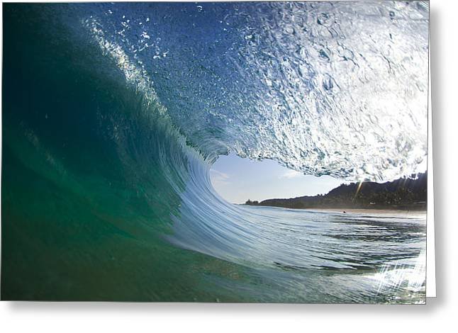 Ocean Art Photography Greeting Cards - Curtain coming down Greeting Card by Sean Davey