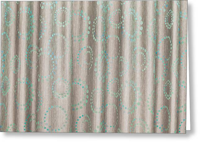 Synthetic Greeting Cards - Curtain Greeting Card by Tom Gowanlock
