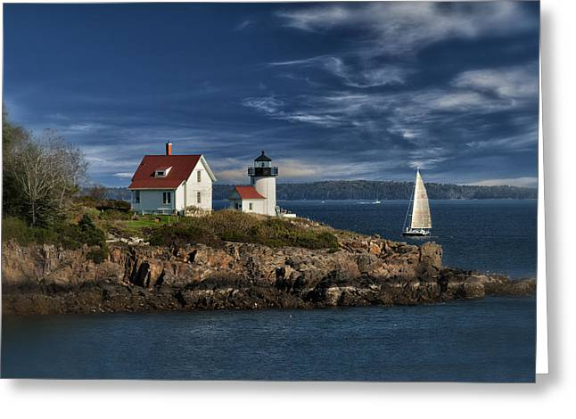 Maine Lighthouses Greeting Cards - Curtis Island Lighthouse Maine IMG 5988 Greeting Card by Greg Kluempers