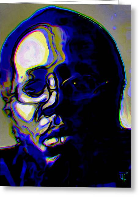 Fine Art Digital Art Greeting Cards - Curtis Mayfield Greeting Card by  Fli Art