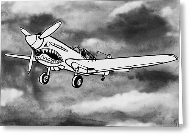 Curtiss P-40 Warhawk 2 Greeting Card by Scott Nelson