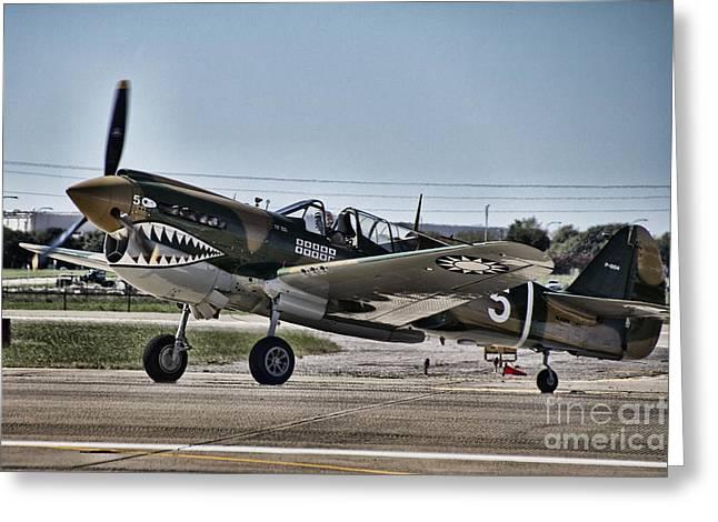 Ww Ii Greeting Cards - Curtiss P-40e Warhawk V2 Greeting Card by Douglas Barnard