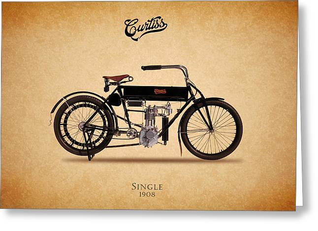 Curtiss Greeting Cards - Curtiss Single 1908 Greeting Card by Mark Rogan