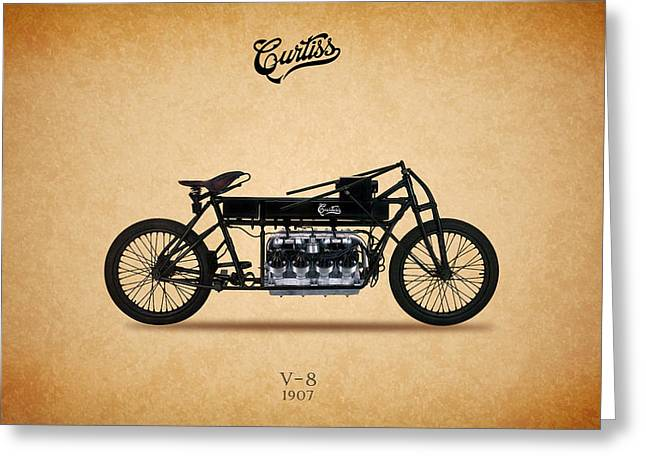 Curtiss Greeting Cards - Curtiss V8 1907 Greeting Card by Mark Rogan