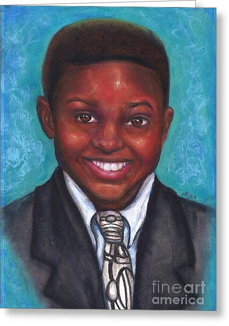 Suit Pastels Greeting Cards - Curts Smile Greeting Card by Alga Washington