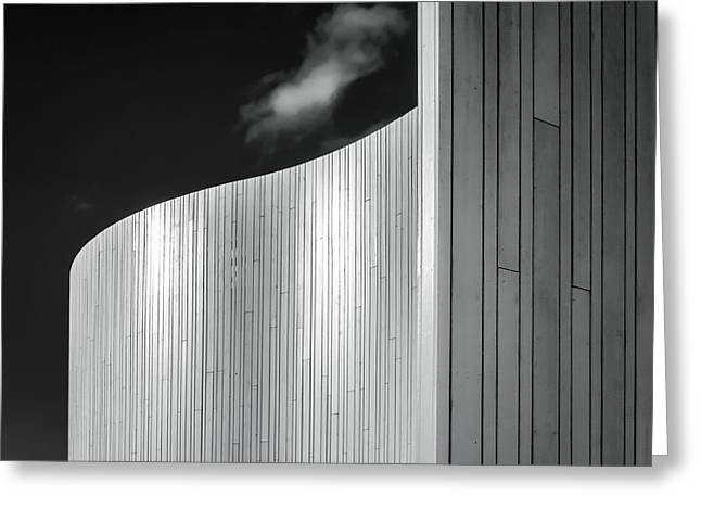 Wooden Structures Greeting Cards - Curve Four Greeting Card by Wim Lanclus