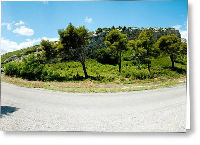 Mountain Road Greeting Cards - Curve In The Road, Bouches-du-rhone Greeting Card by Panoramic Images