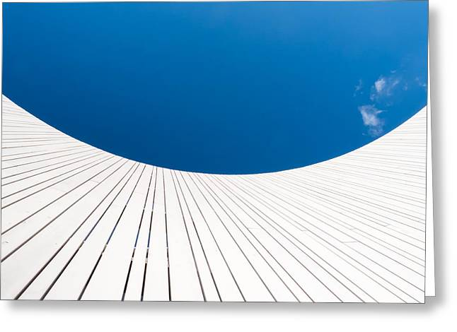 Low Wall Greeting Cards - Curve Three Greeting Card by Wim Lanclus