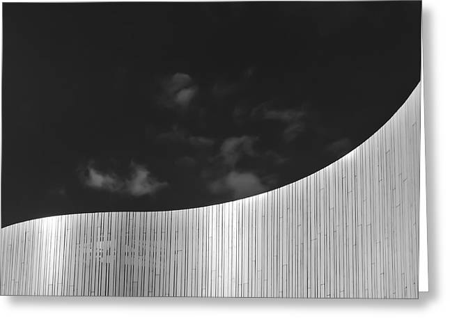 Greyscale Greeting Cards - Curve Two Greeting Card by Wim Lanclus