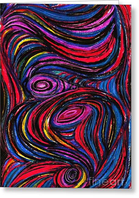 Curved Lines 9 Greeting Card by Sarah Loft
