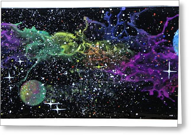 Star Glass Art Greeting Cards - Curved Space Greeting Card by Wolfgang Finger