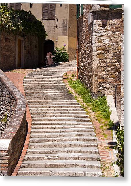 Stepping Stones Greeting Cards - Curved Stairway Greeting Card by Bob Phillips