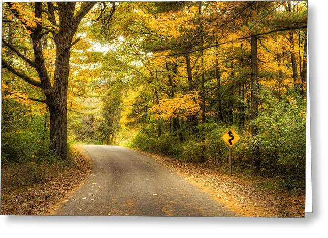 Black Top Greeting Cards - Curves Ahead Greeting Card by Scott Norris