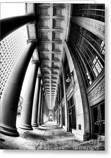 Curves At Union Station Greeting Card by John Rizzuto