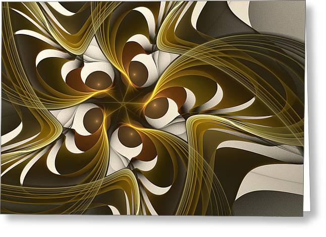 Curves Greeting Card by Linda Whiteside