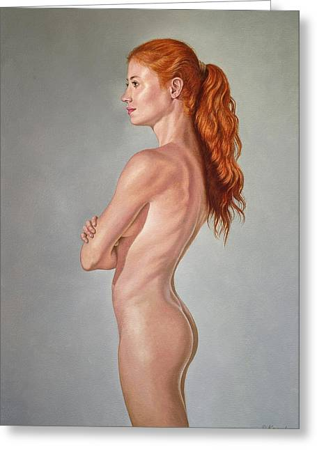 Red Hair Greeting Cards - Curves Greeting Card by Paul Krapf