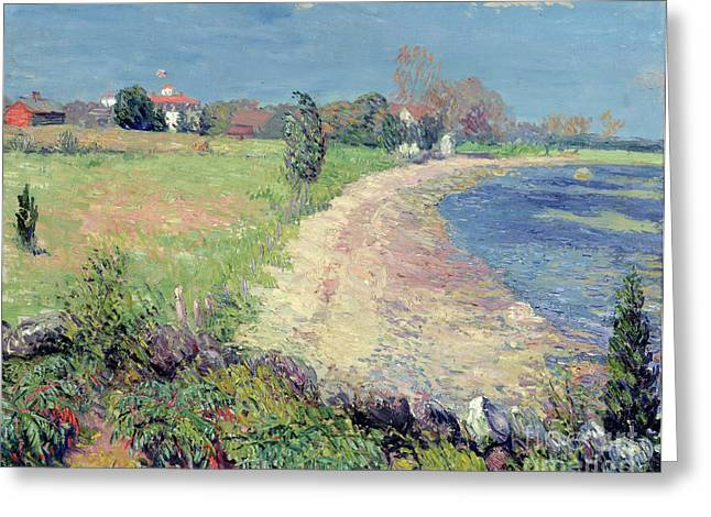 New England Coast Greeting Cards - Curving Beach Greeting Card by William James Glackens