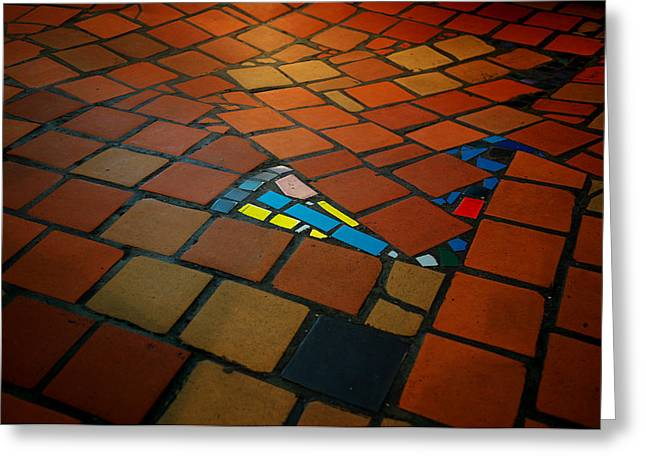 Unequal Greeting Cards - Curvy floor Greeting Card by Ivan Slosar