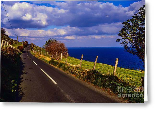 Cushendun Ballycastle Coast Road Greeting Card by Thomas R Fletcher