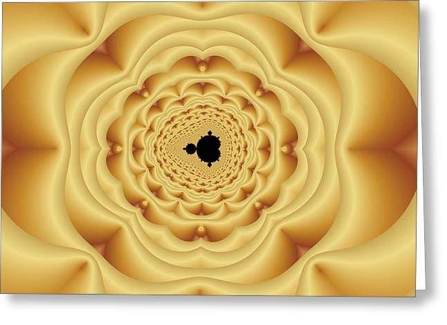 Cushion Greeting Cards - Cushioned Mandelbrot No. 1 Greeting Card by Mark Eggleston